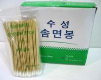 솜면봉 (Cotton Applicator Stick) 6 inch(단면)